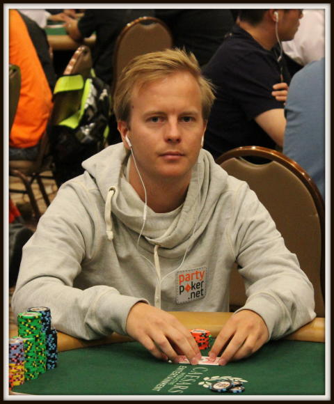 Daniel Erlandsson infor WSOP 2013 Dag 3