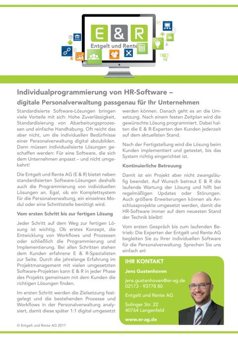 Individualprogrammierung von HR-Software