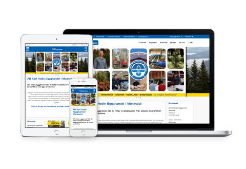 AB Karl Hedin Bygghandel lanserar ny hemsida