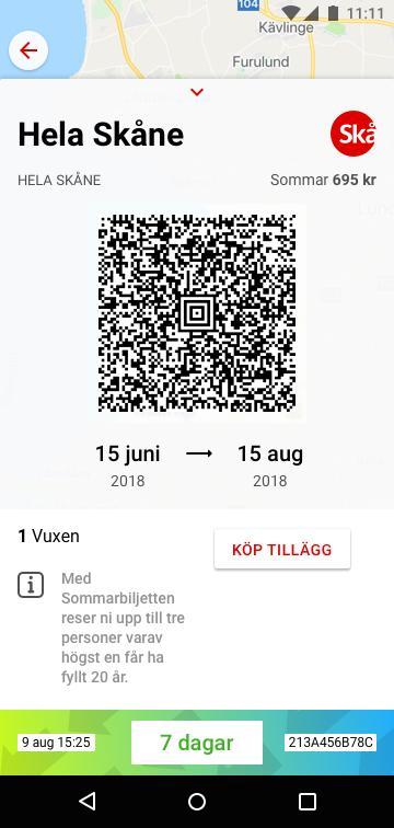 Sommarbiljett 2018 i app