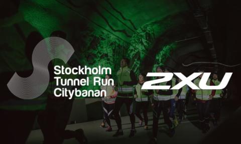 2XU stolt partner till Stockholm Tunnel Run Citybanan 2017