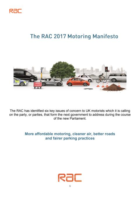 The RAC 2017 Motoring Manifesto