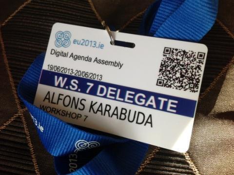 """Karabuda bloggar: """"Om bortamatchen Digital Agenda Assembly 2013 i Dublin"""""""