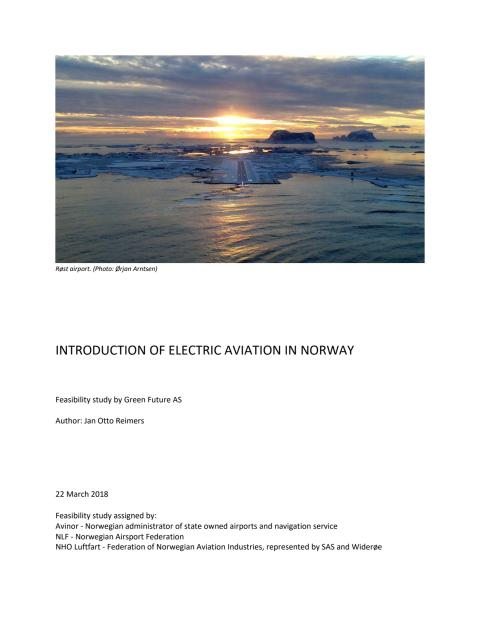 Introduction of electric aircraft in Norway