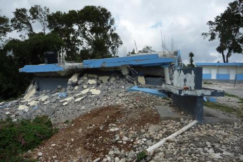 Destroyed high school Jacmel