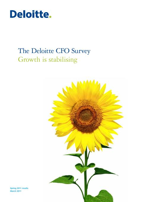 Deloitte CFO Survey 2011
