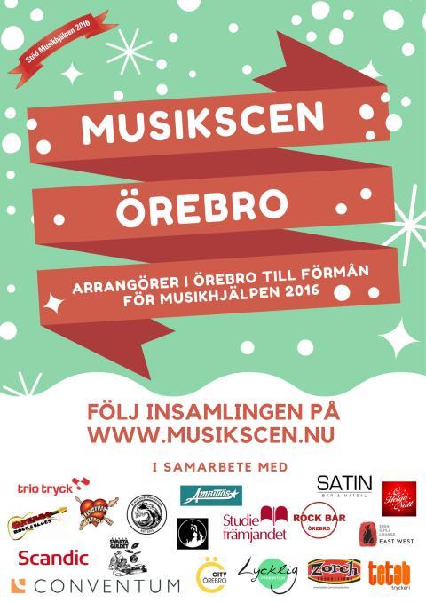 Musikscen Örebro Affisch