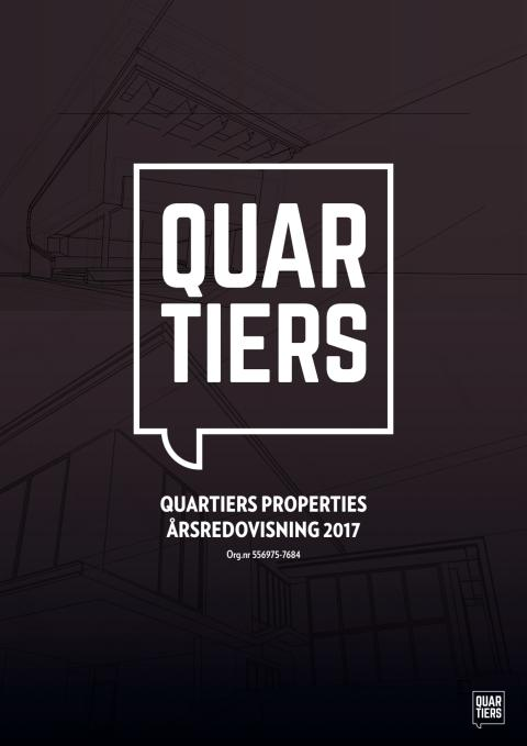 Årsredovisning 2017 - Quartiers Properties