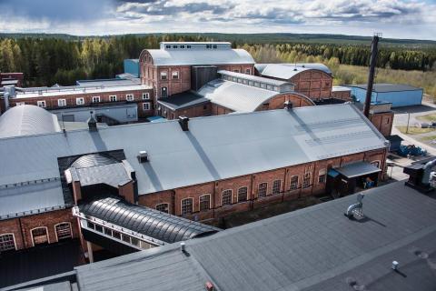 Exteriör på Diamantfabriken i Robertsfors