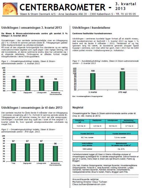 Centerbarometer for 3. kvartal 2013