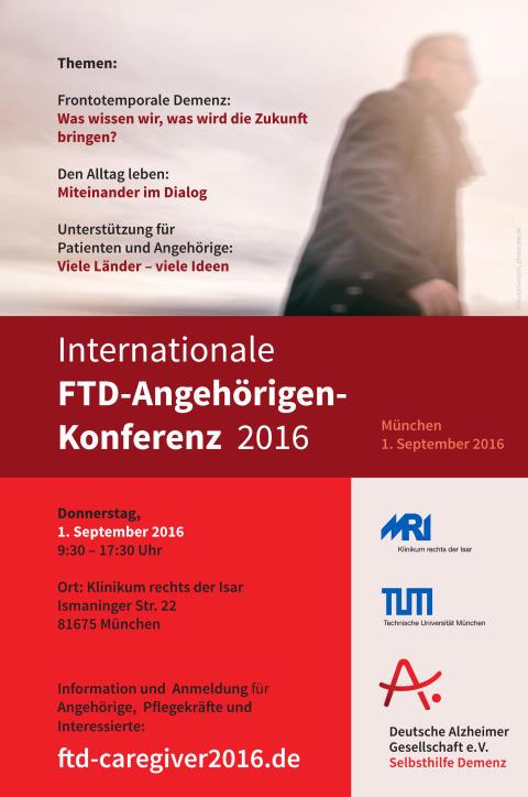 Internationale Angehörigenkonferenz zur Frontotemporalen Demenz am 1. September 2016 in München