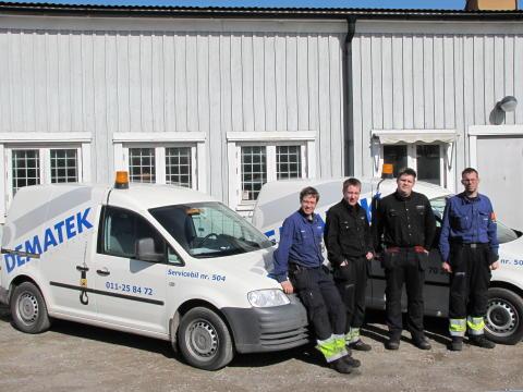 Personalbild på servicepersonal Dematek i Nyköping, Region Öst