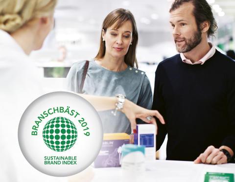 Apoteket är apoteksbranschens mest hållbara varumärke
