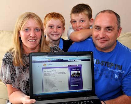 Winners of Nectar Savvy Family 2012 - the Stenton family