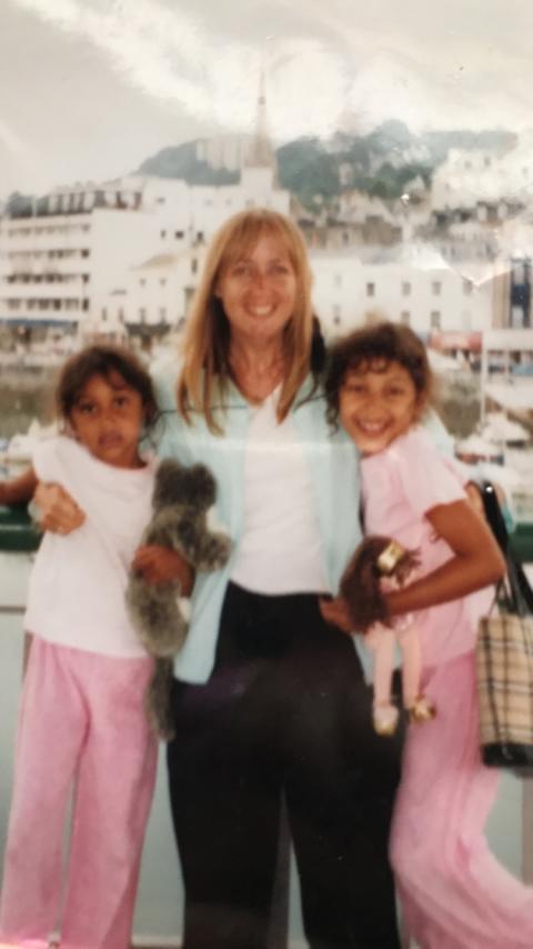 Karen Peter and two of her daughters