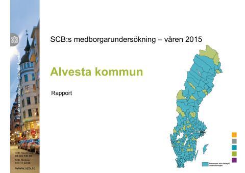 Medborgarundersökning 2015 Alvesta kommun