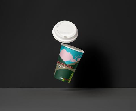 Godare tågkaffe i designad mugg. MTR presenterar vinnaren i sin designtävling