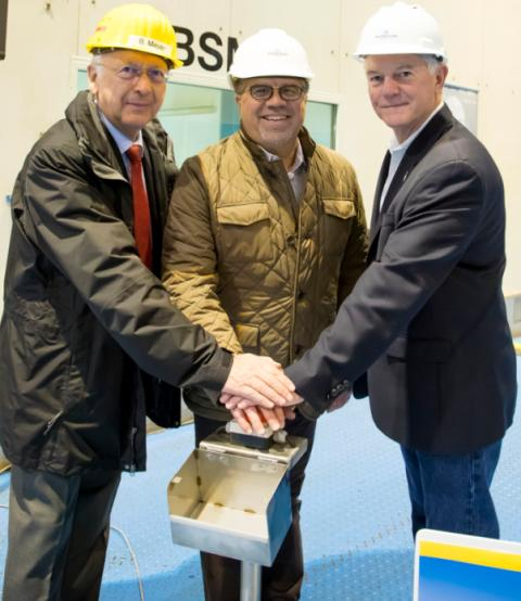 Norwegian Cruise Line celebrates the first steel cut for Norwegian Bliss