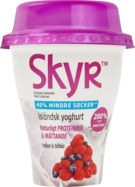 Nyhet! Skyr TM Isländsk yoghurt med 40% mindre socker!
