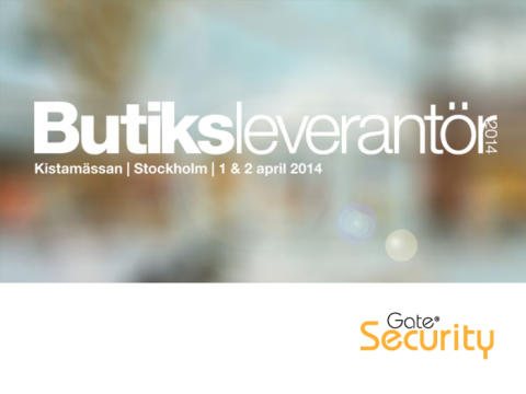 Gate Security på Butiksleverantör 2014, Kistamässan