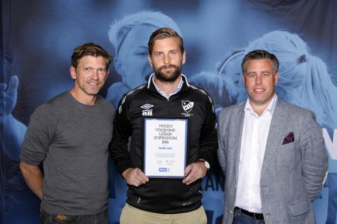 Daniel Ung, Kronängs IF. Här tillsammans med Jesper Blomqvist och Mikael Tykesson.