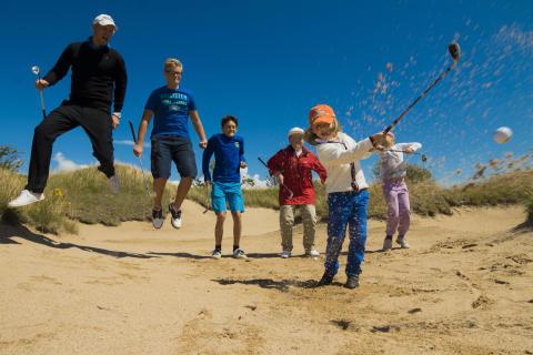 Lyckad insamling till juniorer för Halmstads golfturné