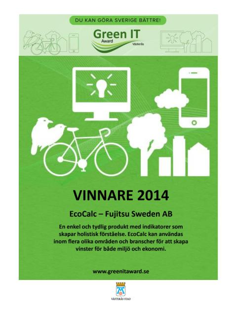 Vinnardiplom Green IT Award 2014