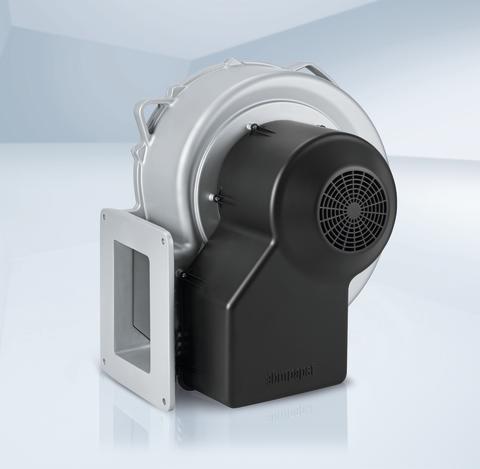 Radialfläkt för gasvärmepannor med upp till 2 Megawatts effekt