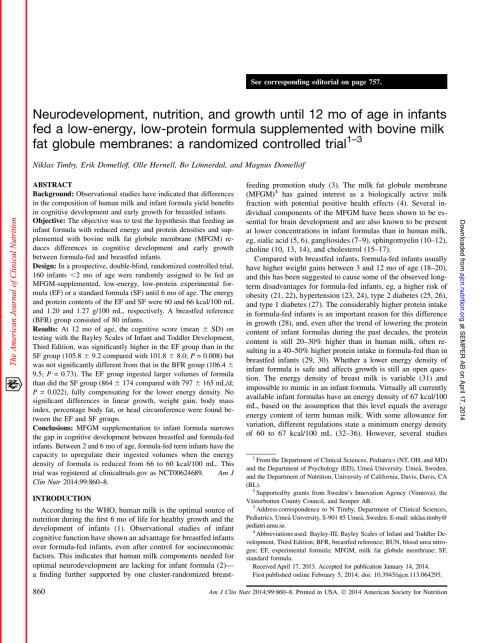 Artikel om TUMME-studien