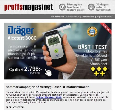 Nyhetsbrev Juni 2013 - Sommarkampanjer på verktyg, laser-& mätinstrument!