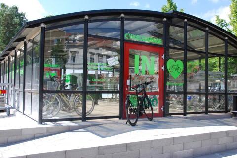 Cykelgarage exteriört