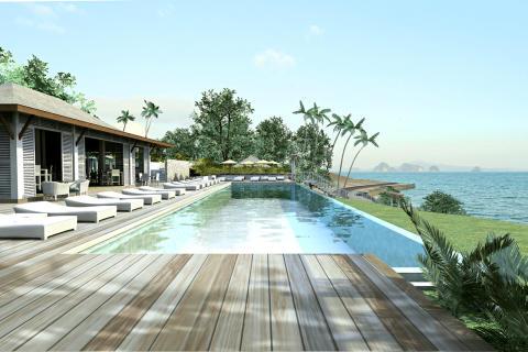 Cape Kudu Hotel Koh Yao Noi -saarella Thaimaassa. Havainnekuva.