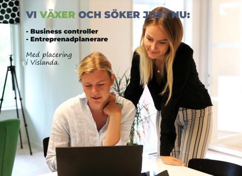 Nya tjänster: Business controller & Entreprenadplanerare