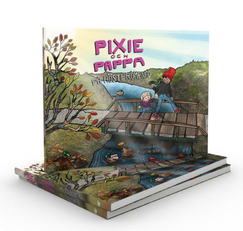 Pixie och Pappa på höstpromenad, skriven och illustrerad av Sebastian Matar