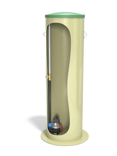 Pumpstation för dränvatten