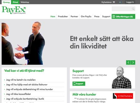 Cloud Nine lanserar PayEx nya webbplats