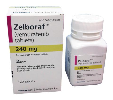 Pressbild Zelboraf, förpackning och burk