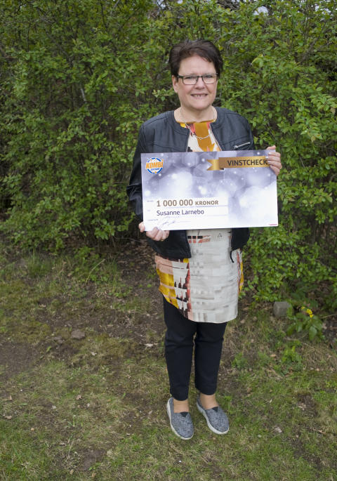 Susanne från Västerås vann 1 miljon i Kombilotteriet