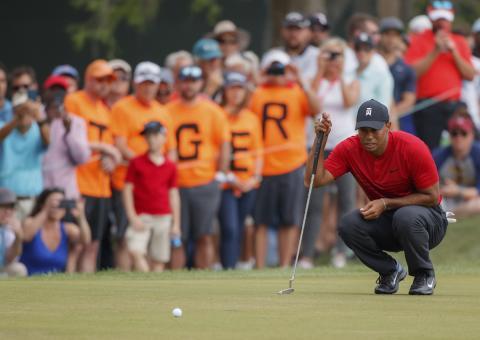Tiger Woods var tæt på at vinde Valspar Championship i sidste uge.