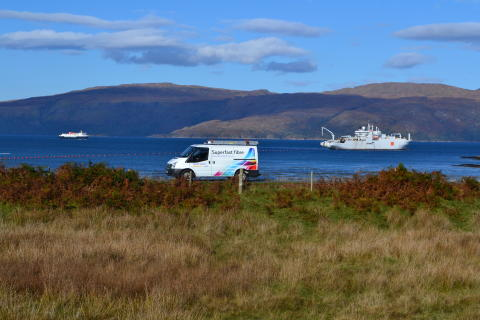 Better broadband for first Arran and Millport homes as roll-out delivers new fibre network
