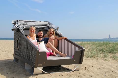 Strandschlafen in Kiel - Glück ahoi!