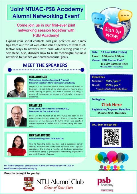 Edits Inc's Founder speaking at NTU alumni networking event