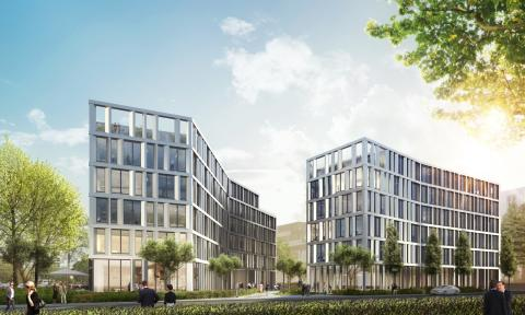 """""""Twist & Ground"""": Spatenstich für STRABAG Real Estate-Büroensemble THE TWIST in Eschborn"""