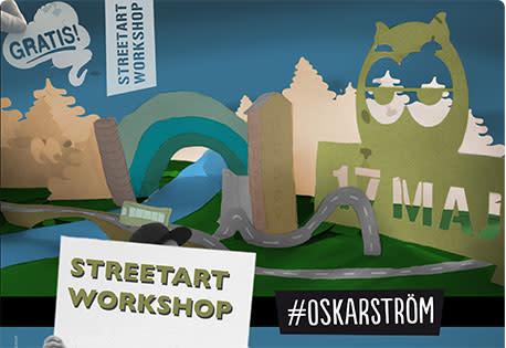 Streetart workshop i Oskarström 17 maj