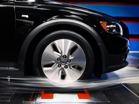 The Volvo Cars Wind Tunnel, test of a Volvo C30