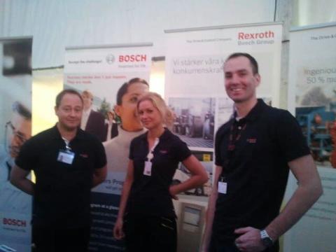 Bosch på LARM, arbetsmarknadsdagar på Linköpings Tekniska Högskola