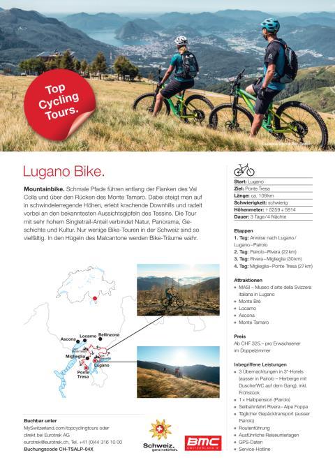 Fact Sheet Top Cycling Tour Lugano Bike