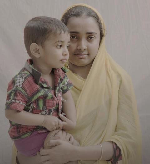 #childmothers: Nargis, 16 år med Nayeem, 1,5 år från Bangladesh.
