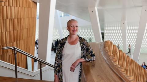 MIXED REALITY. Marianne S Aasen i Bane NOR og Kjetil Taraldlien i Sopra Steria er stolte over HoloLens-prosjektet på Sundvollen
