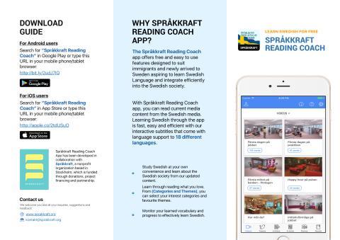 Språkkraft Reading Coach App User Guide